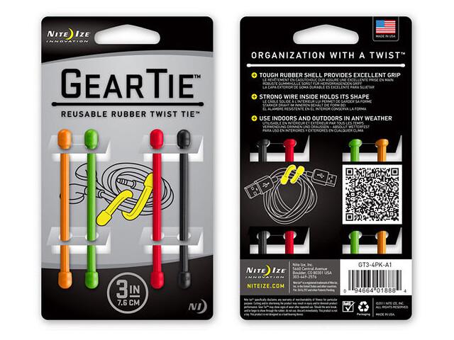 Nite Ize Gear Tie 3 (4-pack) Osorterade färger (A1)